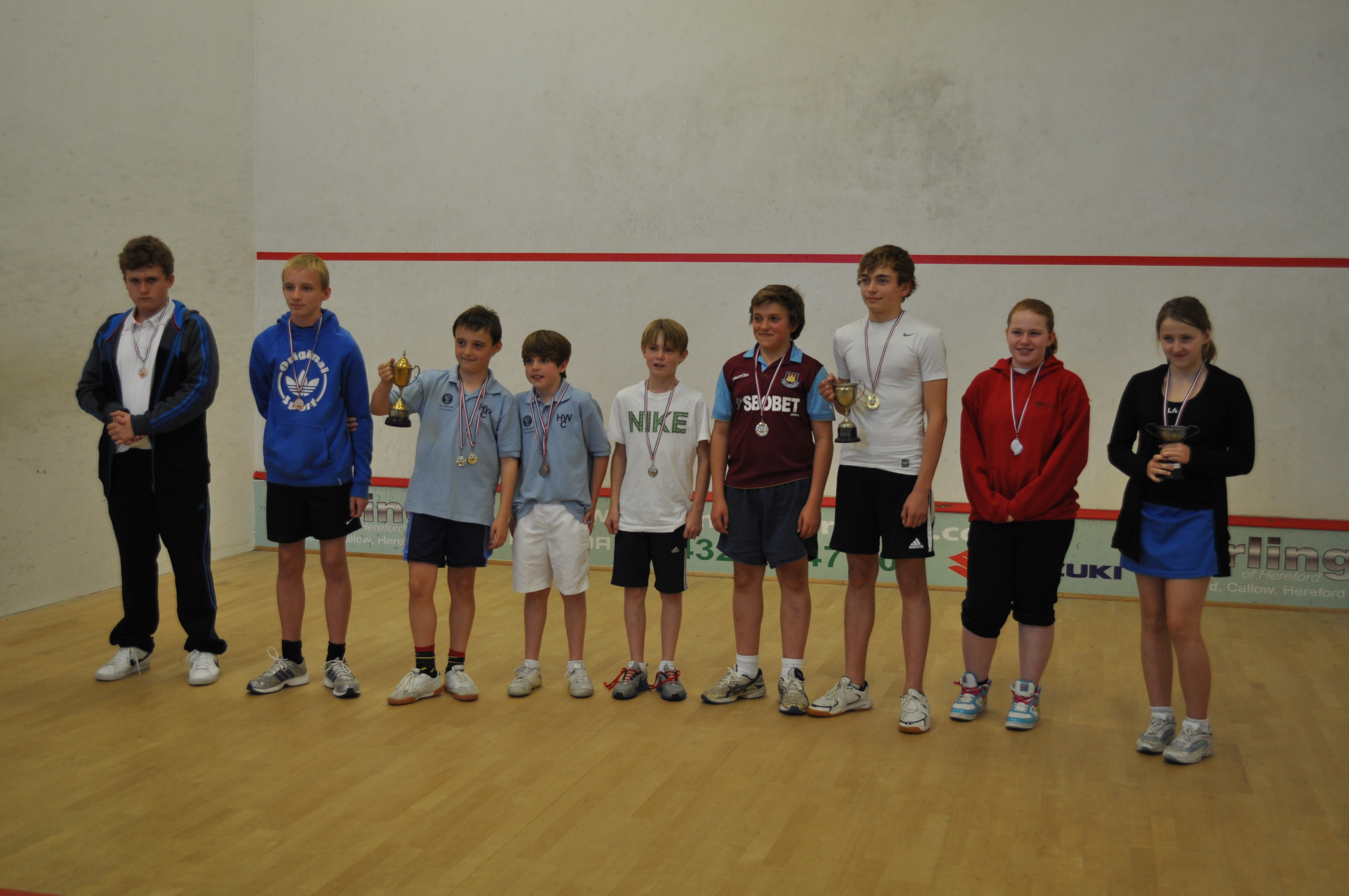 Finalists from the 2012 Junior County Closed competition, sponsored by Dunlop.