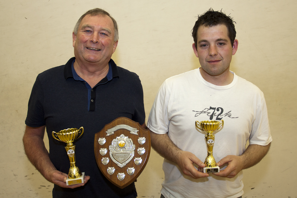 Representatives of the league winners, DPM: Team Captain, Graham Bolton and Steve Rocke